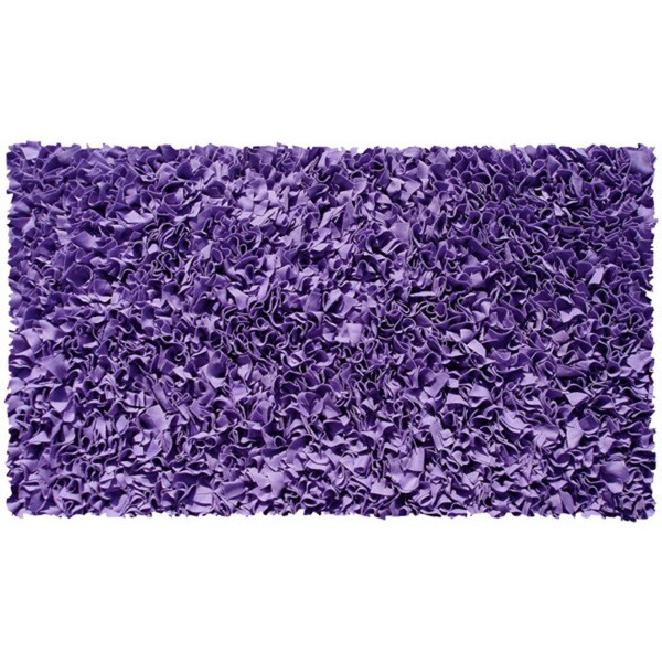 Shop Shaggy Raggy Purple Jersey Cotton Shag Rug 2 8 X 4