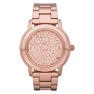 DKNY Women's NY8475 Rose Goldtone Crystal Dial Link Bracelet Timepiece