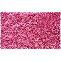 Shaggy Raggy Bubblegum Pink Jersey Cotton Shag Rug - 2'8 x 4'8