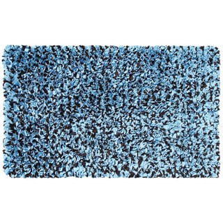Hand Shag Rug Shaggy Raggy Blue/Brown Cotton Jersey Area Rug (2'8 x 4'8)
