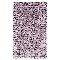 Shaggy Raggy Pink and Brown Jersey Cotton Shag Rug (2'8 x 4'8)