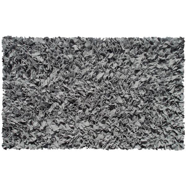 Shop Hand Shag Rug Shaggy Raggy Grey Cotton Jersey Area Rug 2 8 X