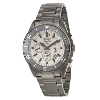 Bulova Men's 'Marine Star' Stainless Steel Quartz Watch