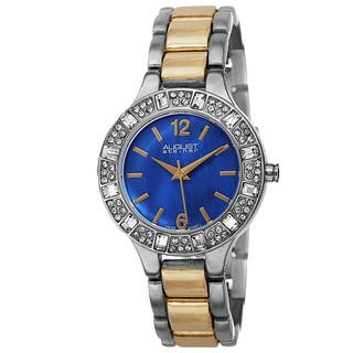 August Steiner Women's Swiss Quartz Mother of Pearl Dial Blue Bracelet Watch|https://ak1.ostkcdn.com/images/products/9612936/P16798376.jpg?impolicy=medium