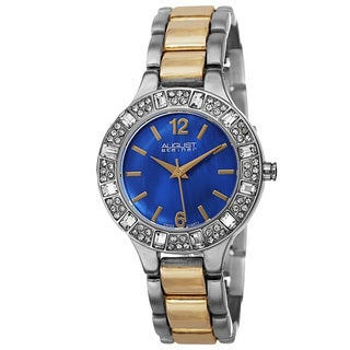 August Steiner Women's Swiss Quartz Mother of Pearl Dial Blue Bracelet Watch