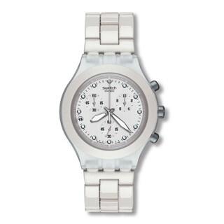 Swatch Men's SVCK4045AG Diaphane Chronograph White Watch