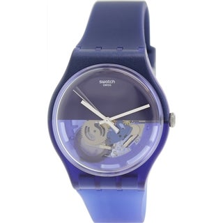 Swatch Men's Originals SUON105 Blue Rubber Swiss Quartz Watch with Blue Dial