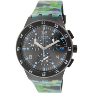 Swatch Men's Originals SUSB403 Multicolor Rubber Swiss Quartz Watch with Black Dial