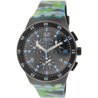 Swatch Men's Originals SUSB403 Multicolor Rubber Swiss Quartz Watch with Black Dial