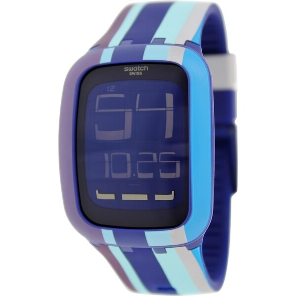 swatch s digital surn103 multicolor silicone swiss