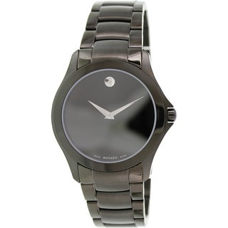 Movado Men's Museum 0606486 Black Stainless-Steel Swiss Quartz Watch with Black Dial