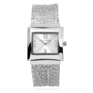 Journee Collection Women's Square Face Chain Watch