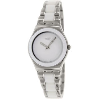 Swatch Women's Irony YLS141GC Two-tone stainless steel Swiss Quartz Watch with White Dial