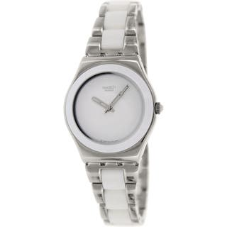 Swatch Women's Irony YLS141GC Two-tone stainless steel Swiss Quartz Watch with White Dial|https://ak1.ostkcdn.com/images/products/9612981/P16798290.jpg?impolicy=medium