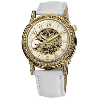 Akribos XXIV Women's Crystal Accented Open Heart Automatic Skeleton Satin White Strap Watch|https://ak1.ostkcdn.com/images/products/9613003/P16798379.jpg?impolicy=medium