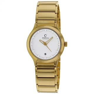 Obaku Women's V115LGWSG 'Harmony' Gold Tone Stainless Steel Watch