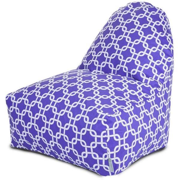 Majestic Home Goods Outdoor Indoor Purple Links Kick-It Chair