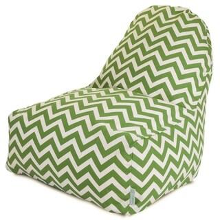 Majestic Home Goods Outdoor Indoor Chevron Kick-It Chair