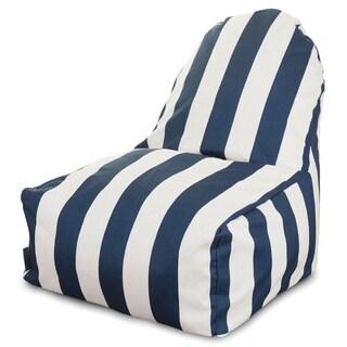 Majestic Home Goods Outdoor Indoor Vertical Stripe Kick-It Chair