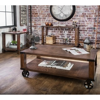 Furniture of America Royce Modern Industrial 3-Piece Accent Table Set