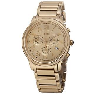Fendi Men's F252415000 'Classico' Gold Dial Stainless Steel Chronograph Quartz Watch
