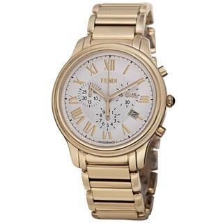 Fendi Men's F252414000 'Classico' White Dial Stainless Steel Chronograph Quartz Watch