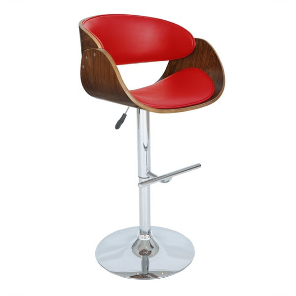 Porthos Home Monroe Adjustable Modern Bar Stool - Free Shipping Today - Overstock.com - 16798425  sc 1 st  Overstock.com : red modern bar stools - islam-shia.org