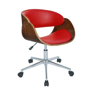 Monroe Adjustable Office Chair (Option: Red)