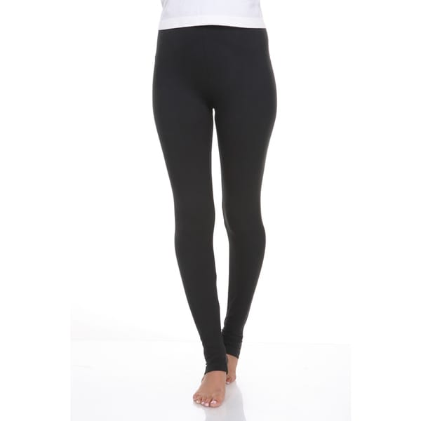 White Mark Women's Cotton and Spandex Leggings
