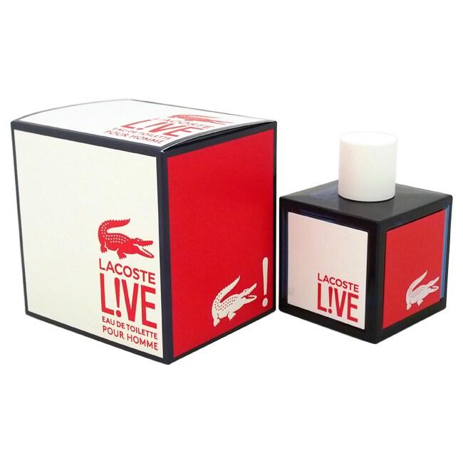 profesjonalna sprzedaż najlepiej tanio wiele modnych Lacoste L!ve Men's 3.3-ounce Eau de Toilette Spray