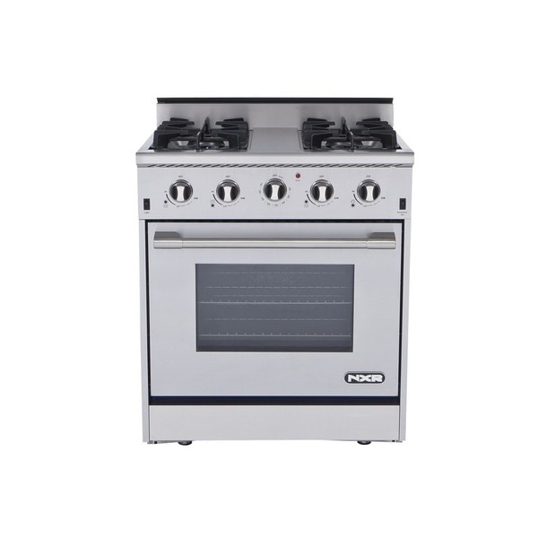 Thor kitchen 30 inch stainless steel professional gas range with 4
