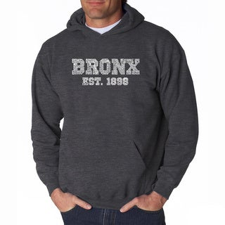 LA Pop Art Men's Bronx Neighborhoods Hooded Sweatshirt