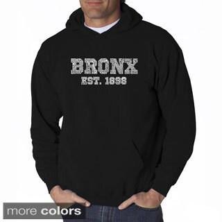 LA Pop Art Men's Bronx Neighborhoods Hooded Sweatshirt