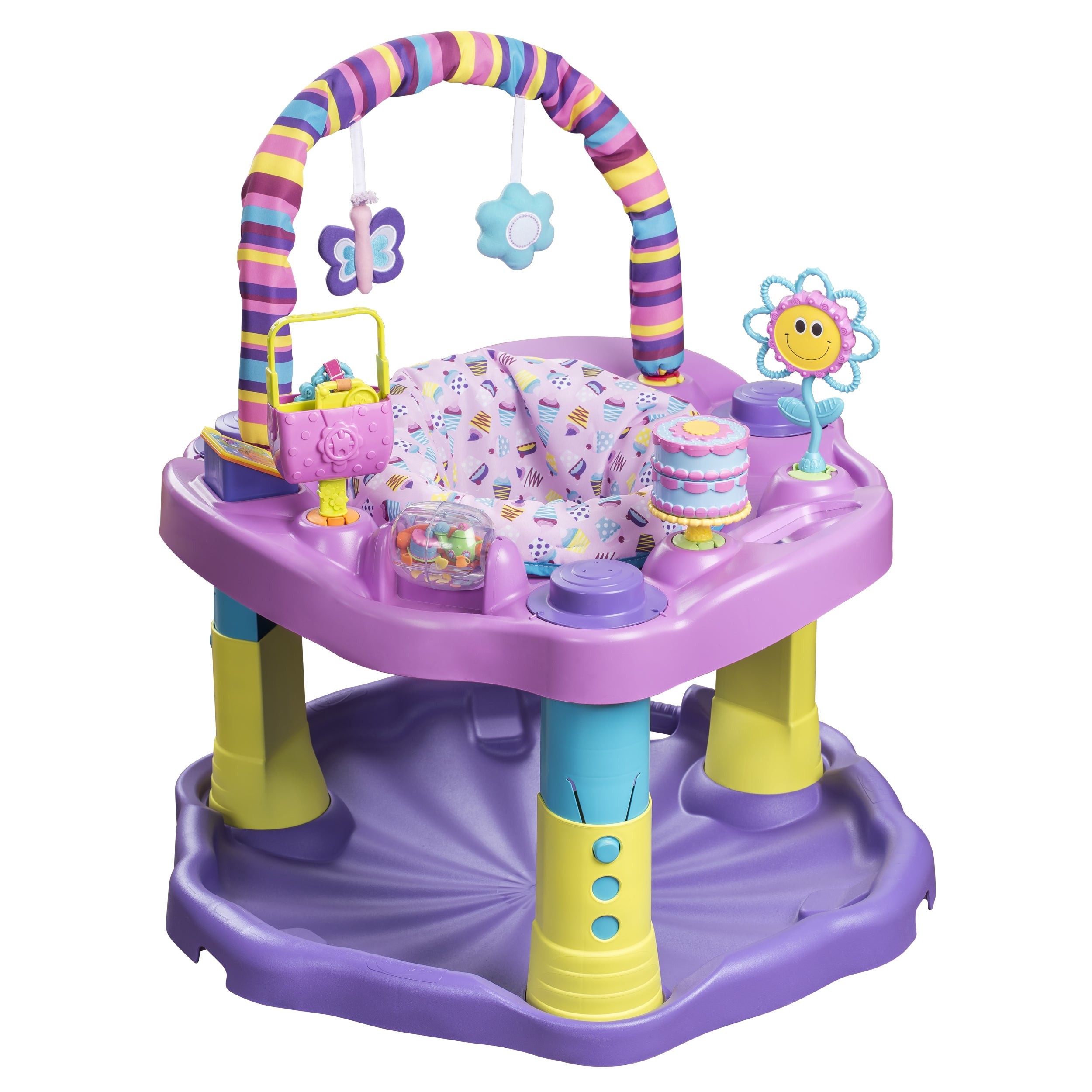 Evenflo ExerSaucer Bounce and Learn Sweet Tea Party (Swee...