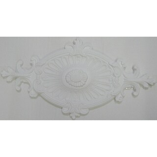 24-inch Antique Design Oval Ceiling Medallion