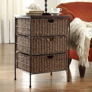 Farmington Maize Weave and Metal 3-drawer Chest