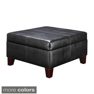 Dorel Living Faux Leather Storage Ottoman