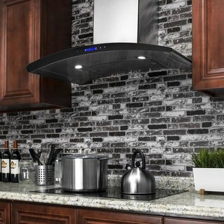 """AKDY RH0069 30"""" Europe Stainless Steel Wall Mount Range Hood Stove Vent Touch Control - Silver"""