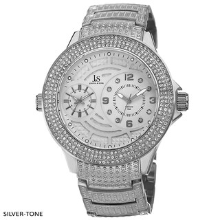 Joshua & Sons Men's Swiss Quartz Diamond-Accented Bracelet Watch (Option: Silver-Tone)