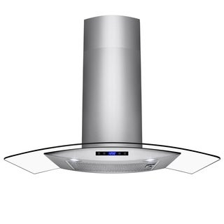 36-inch OSWRH688-CS14-36-AK Curved Glass Stainless Steel Wall Mount Range Hood