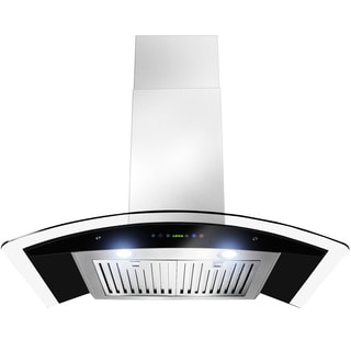 36-inch OSWRH668S3-36-AK Curved Design Stainless Steel Wall Mount Range Hood