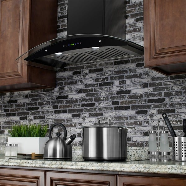 Charmant 36 Inch OSWRH668S3BK 36 AK Black Stainless Steel Wall Mount Range Hood
