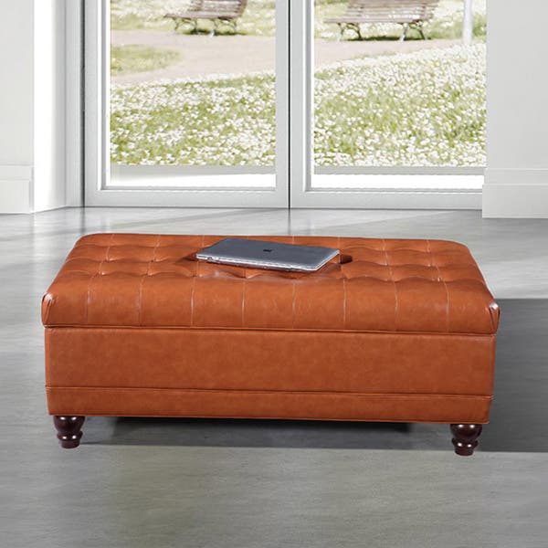 Strange Shop Luxury Comfort Collection Classic Saddle Brown Tufted Onthecornerstone Fun Painted Chair Ideas Images Onthecornerstoneorg