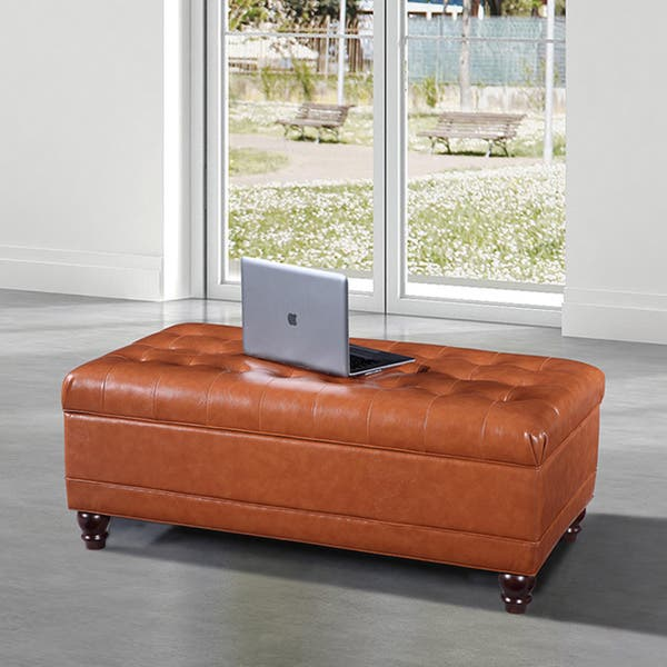 Sensational Shop Luxury Comfort Collection Classic Saddle Brown Tufted Onthecornerstone Fun Painted Chair Ideas Images Onthecornerstoneorg