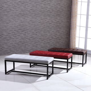 Signature Designs Modern Metal Tufted Bench