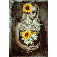 Daveed Benito 'Sunflower' Gallery-wrapped Canvas Print