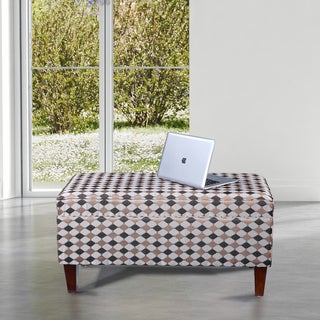 Classic Plaid Storage Bench Ottoman