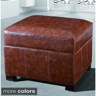 Faux Leather Foot Stool For Less Overstock Com