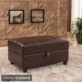 Royal Comfort Collection Classic Buckled Storage Bench Ottoman