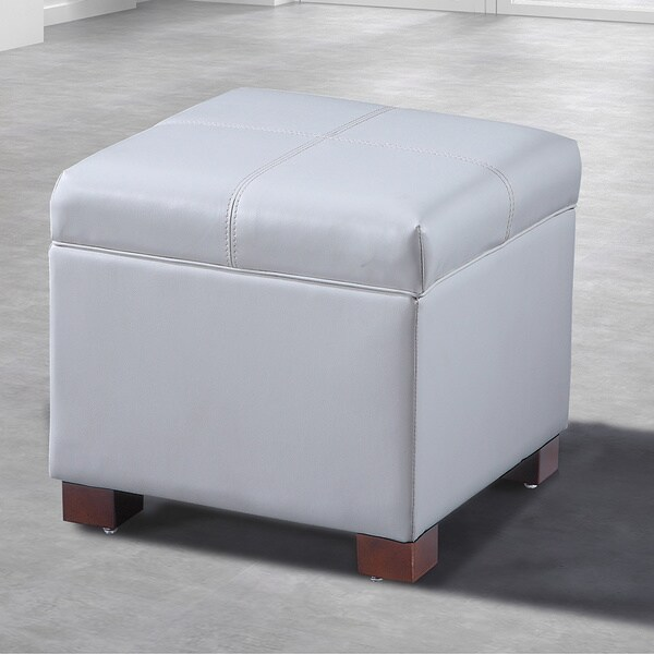 Royal Comfort Collection Traditional Leather Storage Cube With Hinge